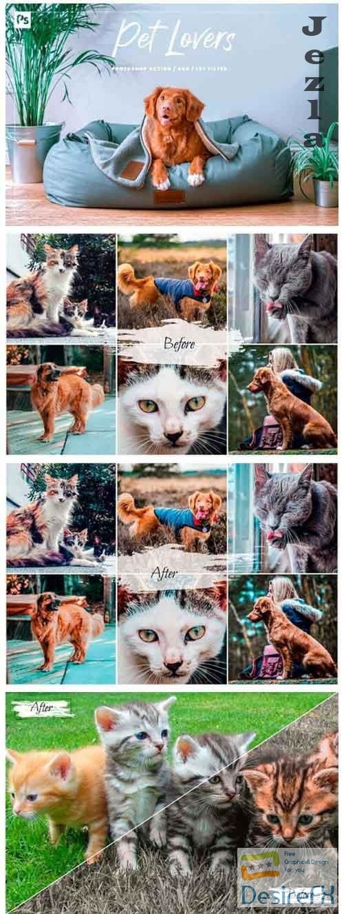 10 Pet Lovers Photoshop Action, ACR, LUT Presets
