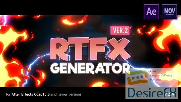 Videohive RFX Generator [1000 FX elements] 19563523 V.2.2  [with Crack Monter]