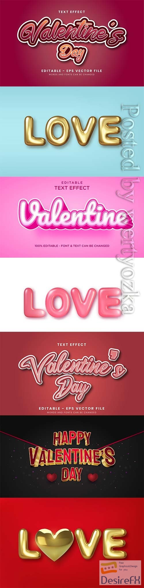 3d editable text style effect vector vol 244