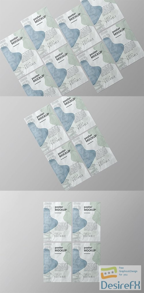 A4 Poster Mockup - Vol 02 PSD