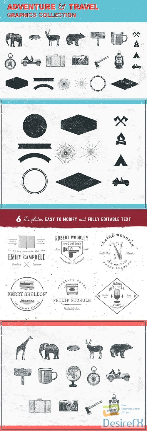 Adventure & Travel Vector Graphic Collection