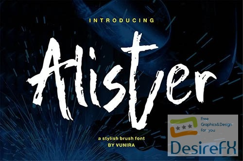 Alister   A Stylish Brush Font