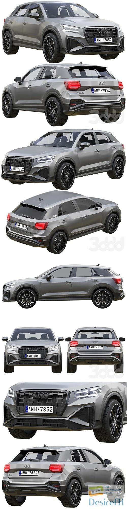 Audi Q2 2021 3D Model
