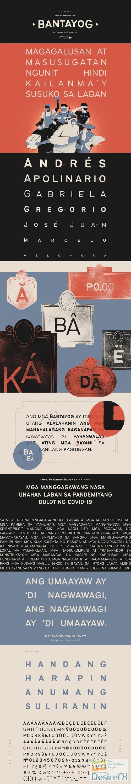 Bantayog – A Rough Display Typeface 3-Weights