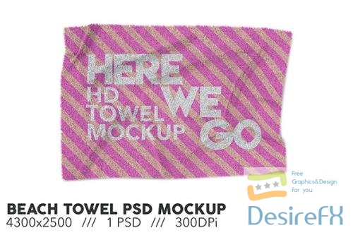 Beach Towel PSD Mockup