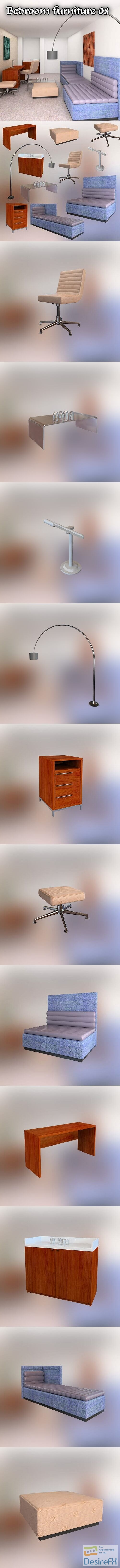 Bedroom Furniture 08 Set 3D Model