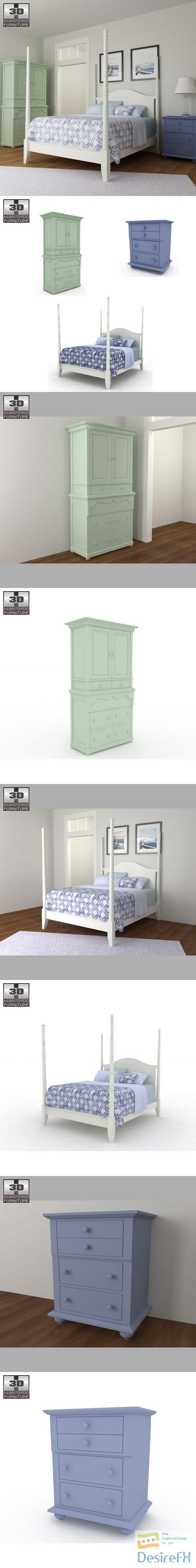 Bedroom Furniture 15 Set 3D Model