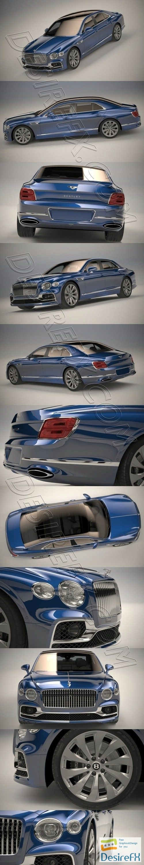 Bentley Flying Spur 2020 3D Model
