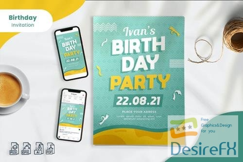 Birthday Invitation - Print & Social Media