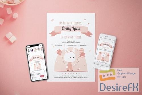 Birthday Party Invitation - Flyer Media Kit