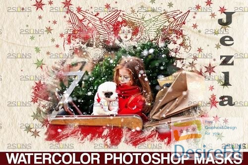 Christmas watercolor overlay & Christmas overlay - 1132930