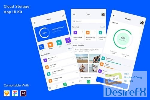 Cloud Storage App UI Kit
