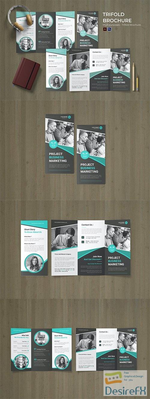 Concept Management Flyer Trifold Brochure PSD