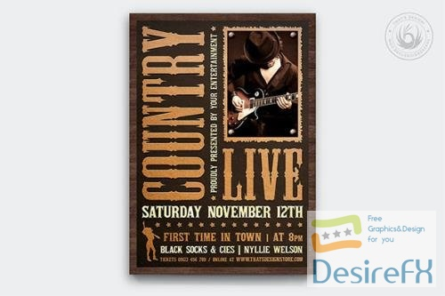 Country Music Flyer Template V5