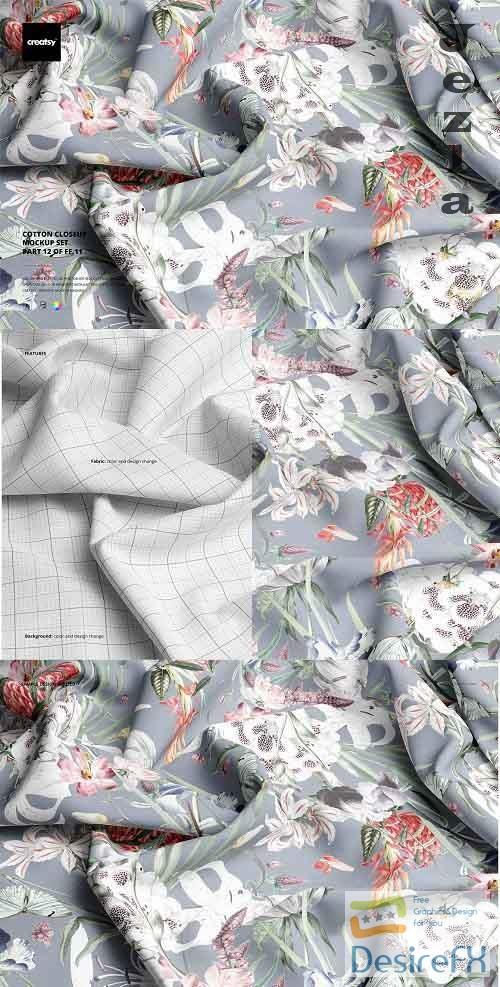 CreativeMarket - Cotton Closeup Mockup Set 5751320