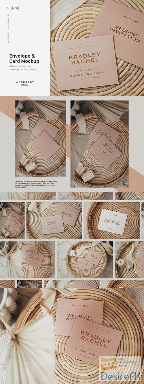 Envelope & Cards Mockup PSD