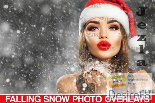 Falling snow overlay for photoshop & Christmas overlay - 1131564