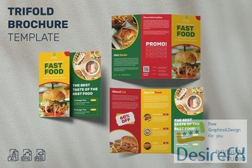 Fast Food - Trifold Brochure Template
