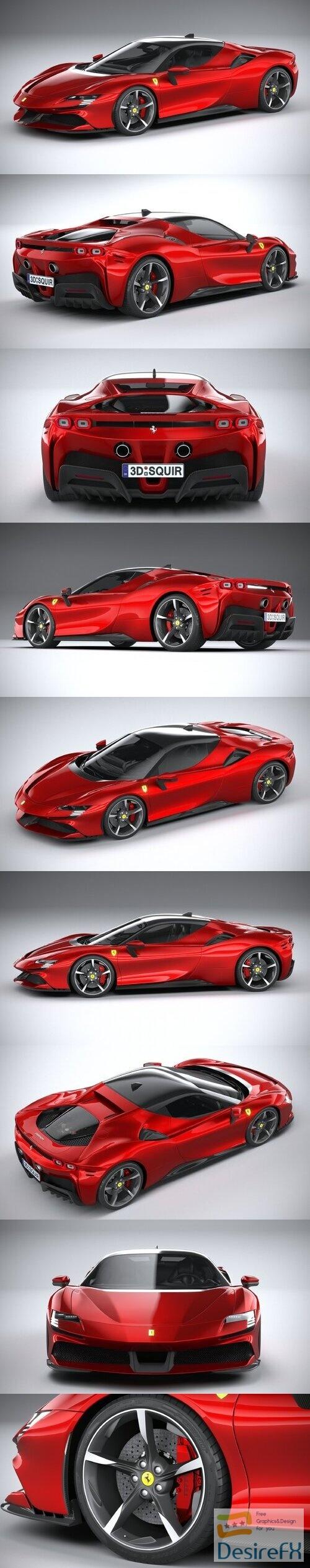 Ferrari SF90 Stradale 2021 3D Model