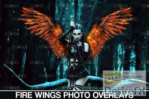 Fire wings overlay & Halloween overlay, Photoshop overlay - 1132961