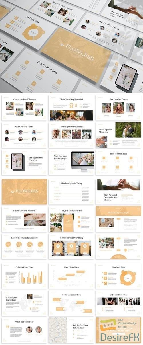 Flowless - Wedding Powerpoint Template