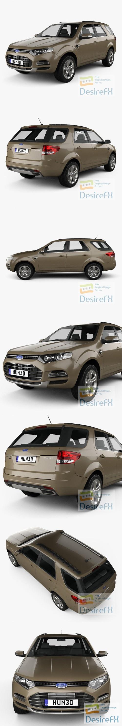 Ford Territory 2012 3D Model