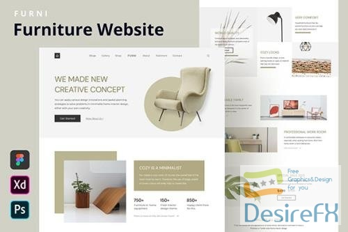 Furni - Furniture Website Homepage