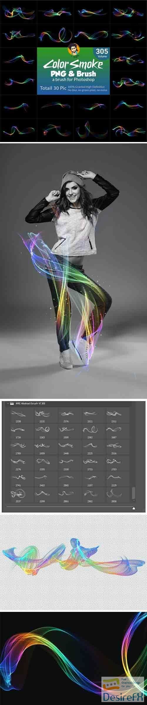 GraphicRiver - Abstract Motion Brush and PNG 29856800