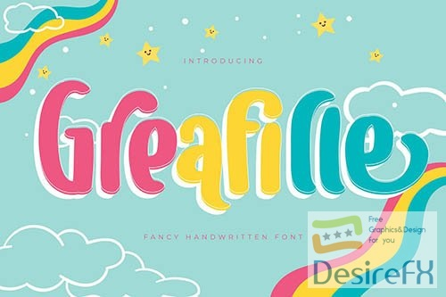Greafille | Fancy Handwritten Font