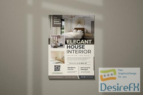 House Interior Flyer PSD