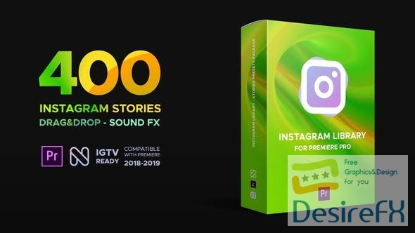 Videohive Instagram Library for Premiere Pro 23068744