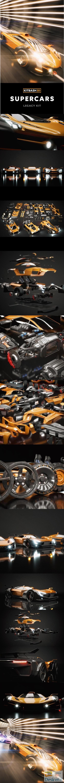 Kitbash3D Veh Supercars 3D Models