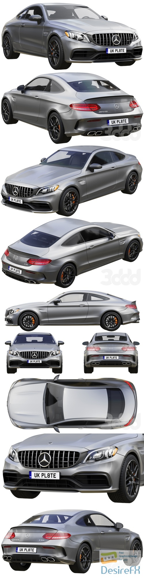 Mercedes-Benz C63 Coupe 2020 3D Model