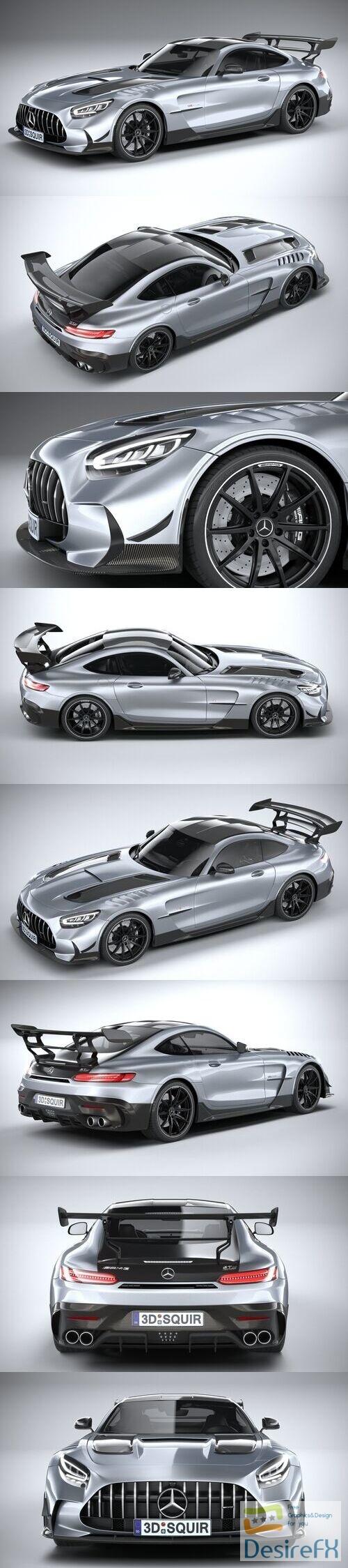 Mercedes AMG GT Black Series 2021 3D Model