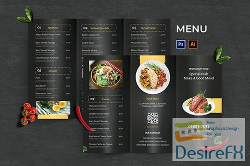 Modern Food Menu PSD