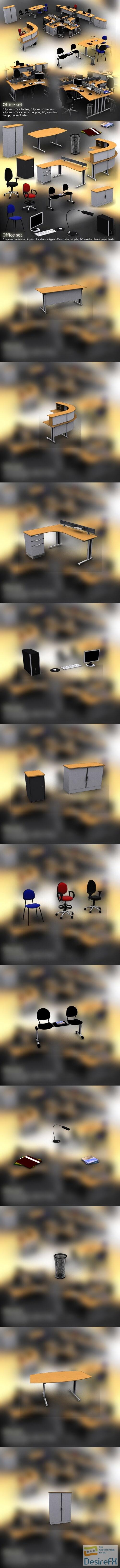 Office Set 12 3D Model