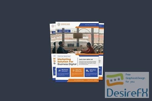 Online Meeting Flyer PSD
