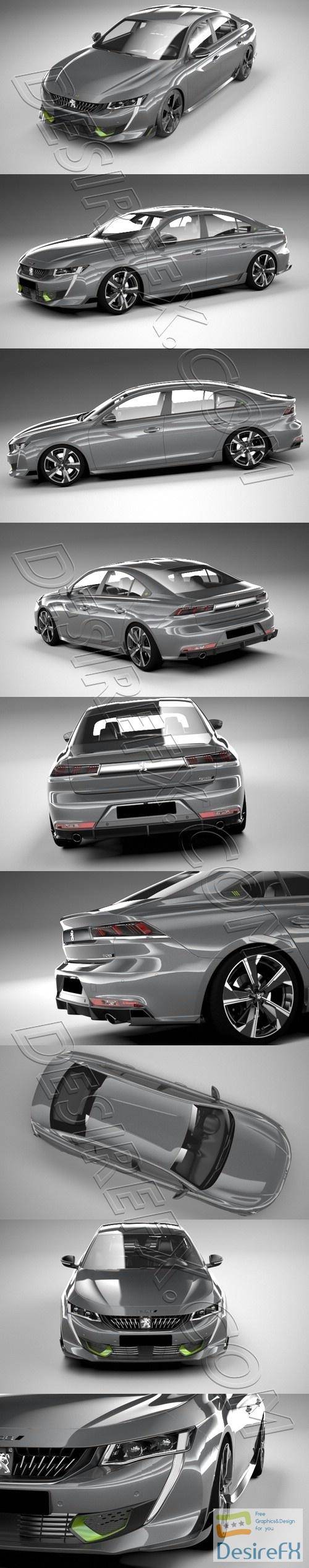 Peugeot 508 PSE 2021 3D Model