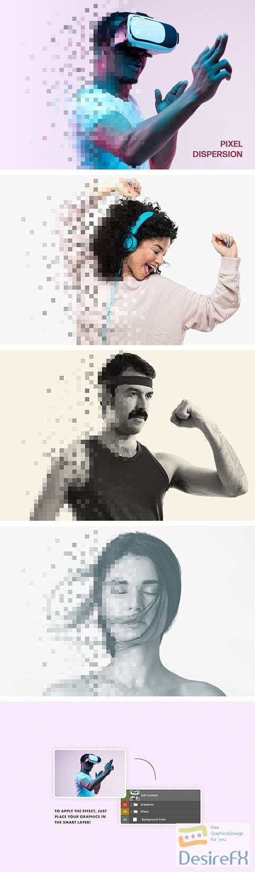 Pixel Dispersion Photo Effect PSD Template