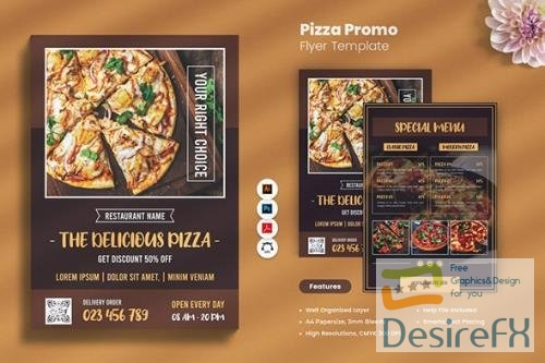 Pizza Promo Flyer PSD