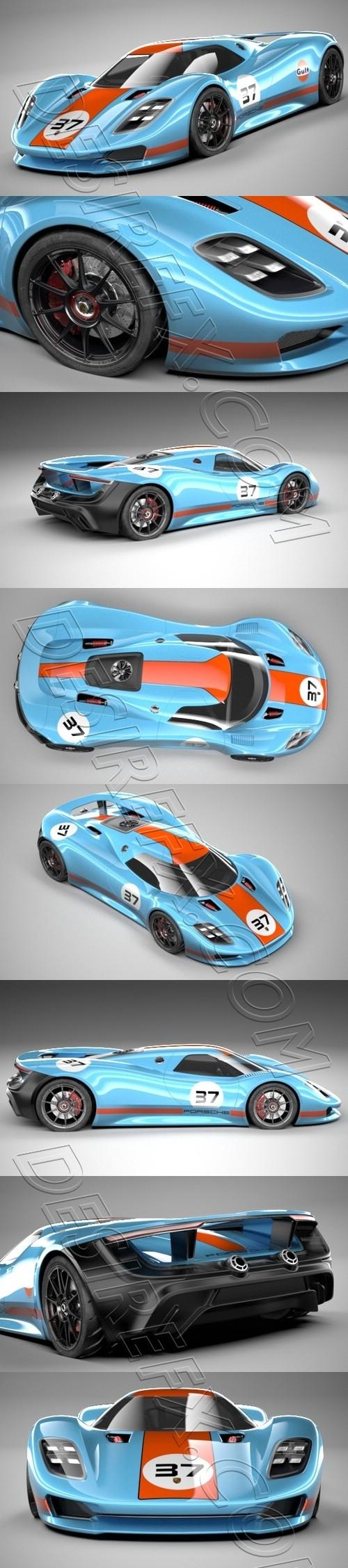 Porsche 917 Concept 3D Model