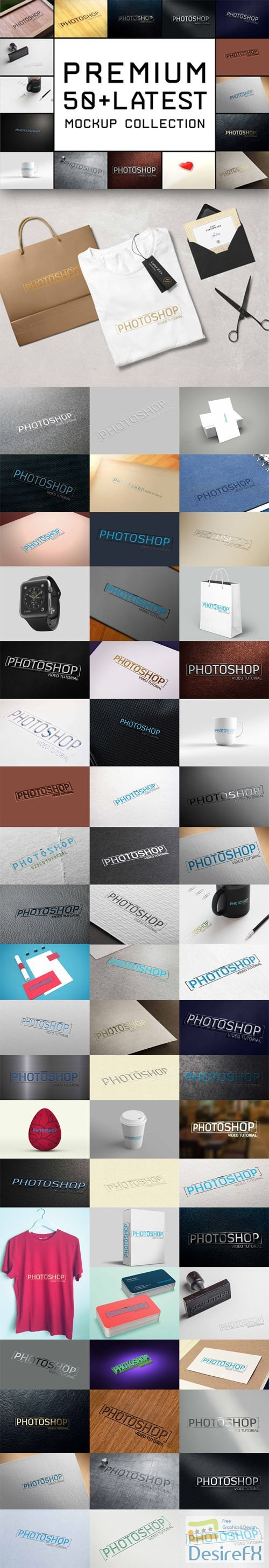 Premium 50+ Latest Logo PSD Mockups Collection