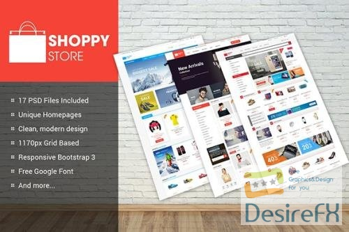 ShoppyStore - Multipurpose eCommerce PSD Theme