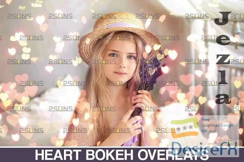 Valentine Bokeh Blowing heart Photoshop overlay v13