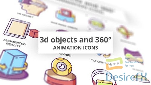 3D objects & 360 - Animation Icons 30885077