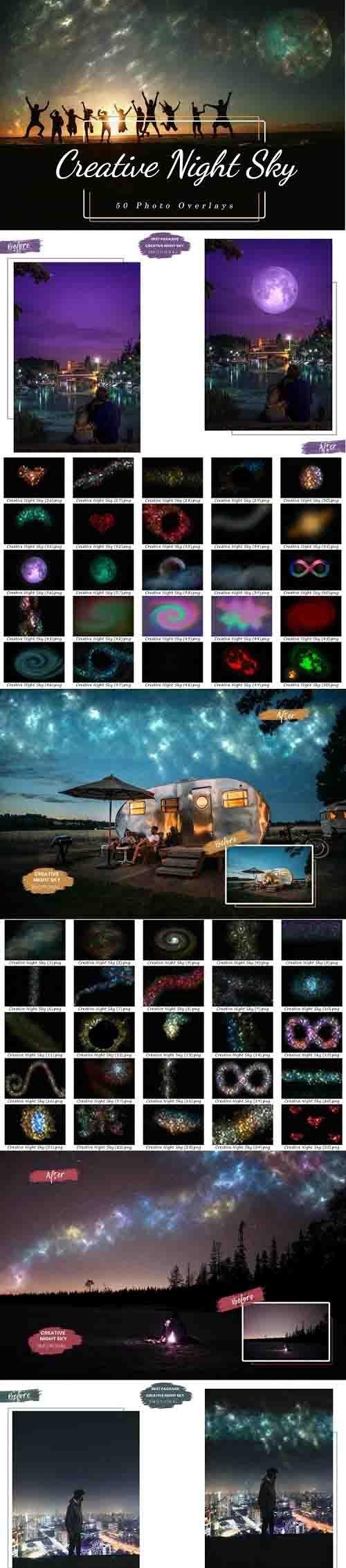 50 Creative Night Sky, Add Starry Sky To Photo, Moon Overlay - 1239110