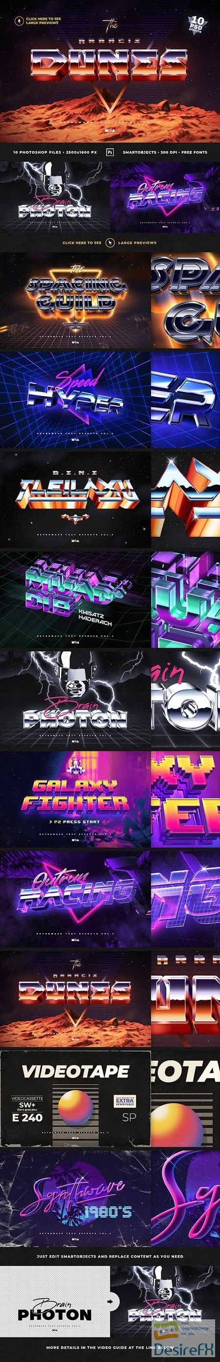 GraphicRiver - 80`s Retro Text Effects vol.4 Synthwave Retrowave 30483618