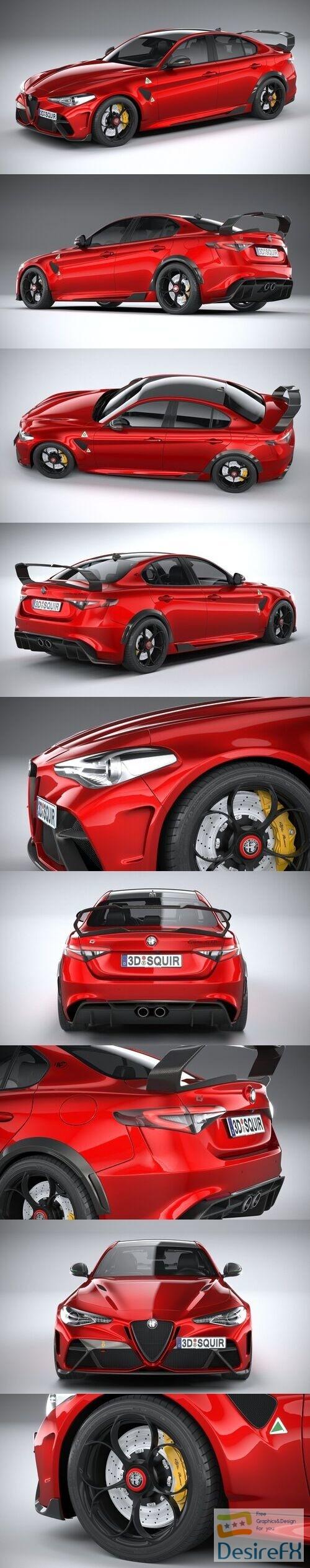 Alfa Romeo Giulia GTAm 2021 3D Model