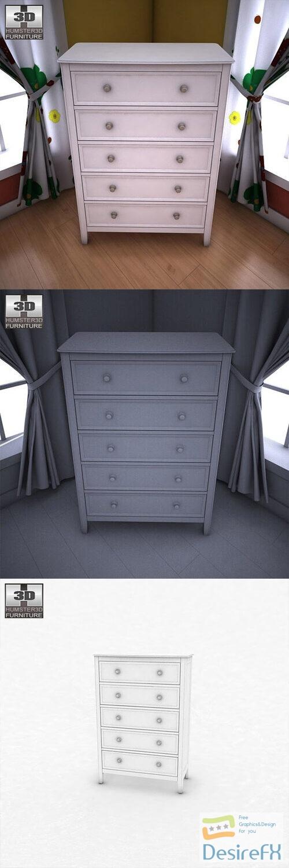 Ashley Caspian Panel Chest 3D Model