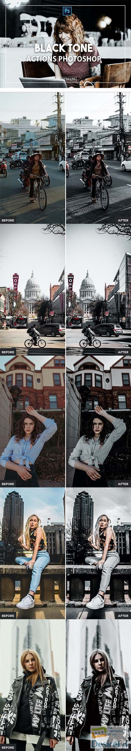 Black Tone Photoshop Actions